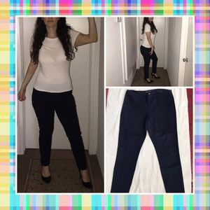 Dark blue navy lined dress pants by INC. Size 10